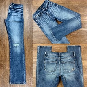 NEW EXPRESS MID RISE CROPPED SKINNY JEA